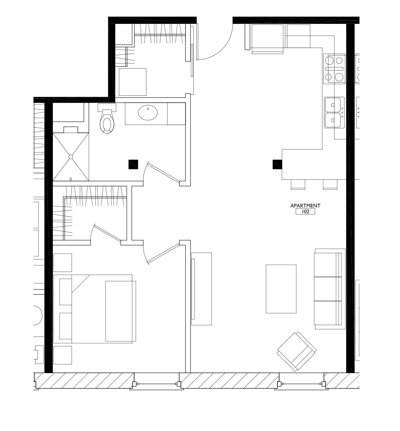 Floorplan - 1 Bedroom image