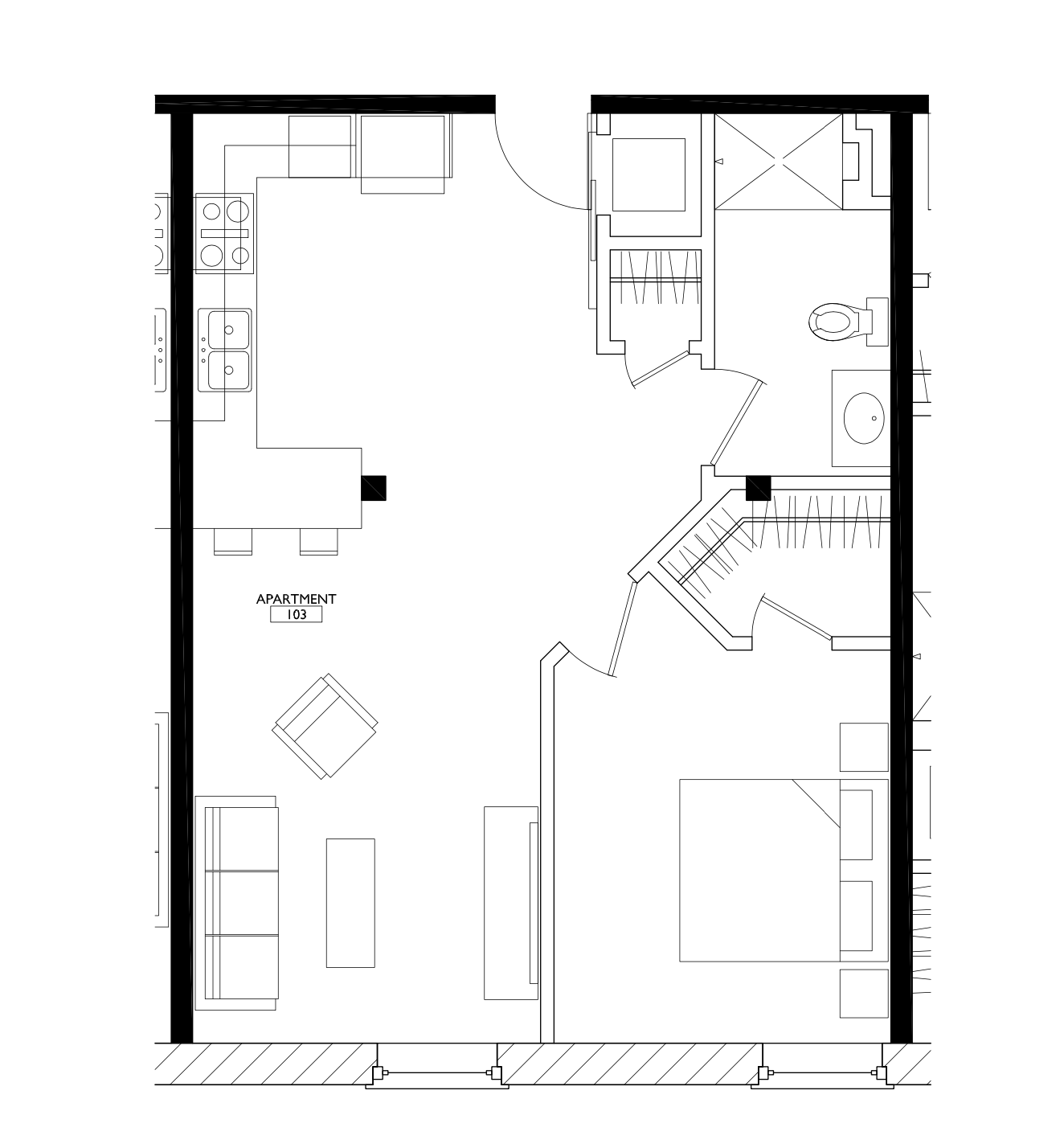 OGGI Lofts - Floorplan - 1 Bedroom
