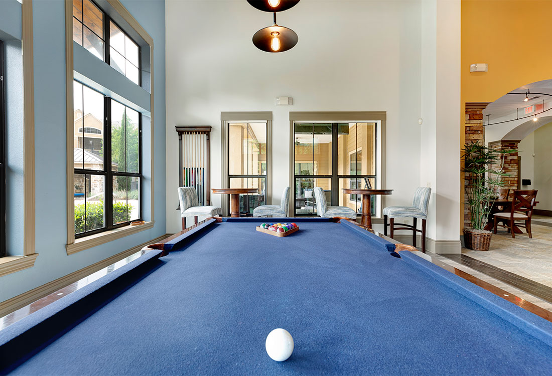 Pool Table at Preserve at Old Dowlen Apartments in Beaumont, TX