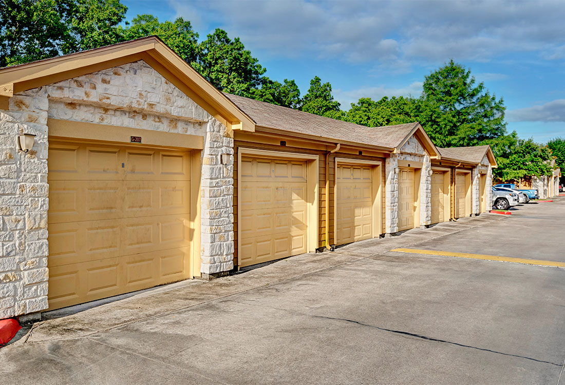 Garages Available at Preserve at Old Dowlen Apartments in Beaumont, TX