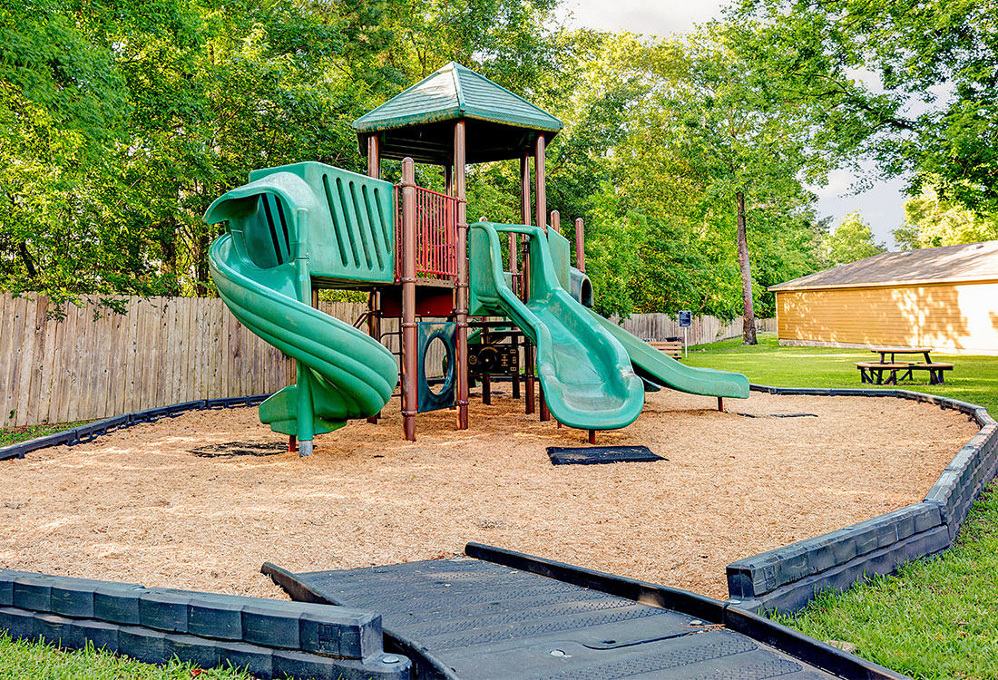Children's Playground at Preserve at Old Dowlen Apartments in Beaumont, TX