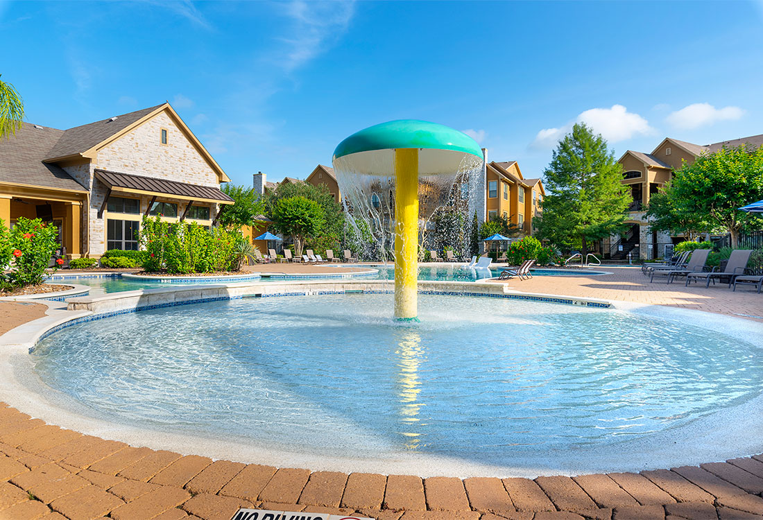 Splash Park at Preserve at Old Dowlen Apartments in Beaumont, TX