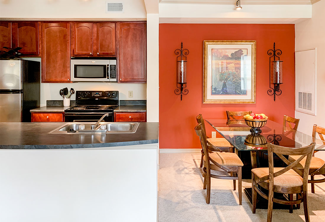 Separate Dining Area at Preserve at Old Dowlen Apartments in Beaumont, TX