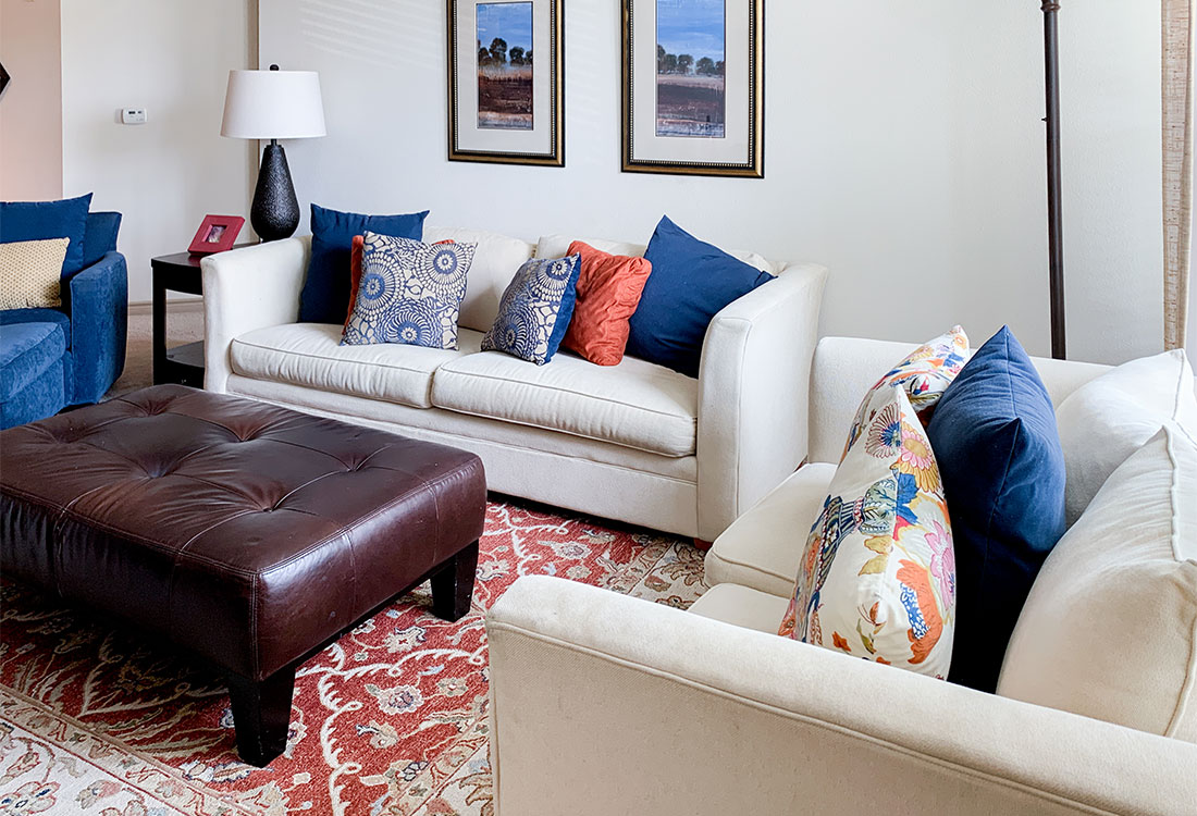 Spacious Living Room at Preserve at Old Dowlen Apartments in Beaumont, TX