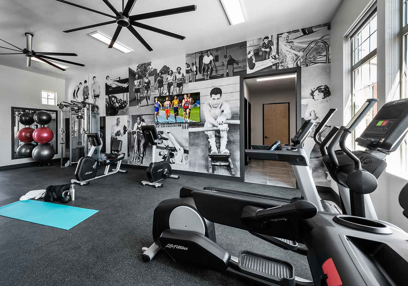 Fitness Center at Olive Marketplace Apartments in Glendale, AZ