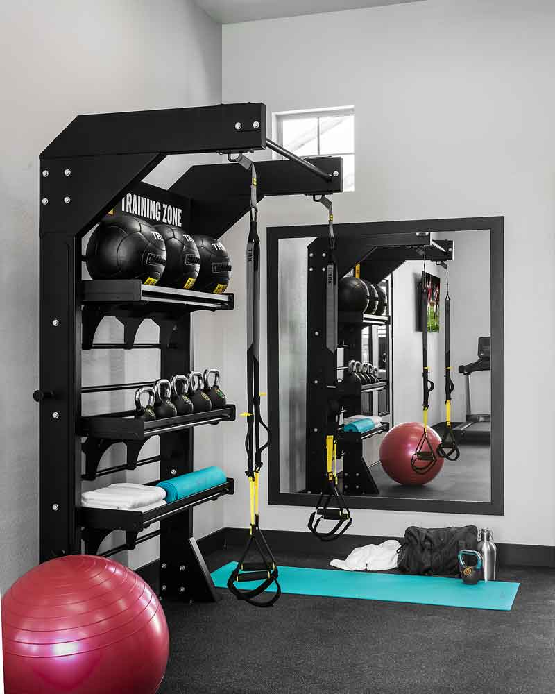 Weights Equipment's at Olive Marketplace Apartments in Glendale, AZ