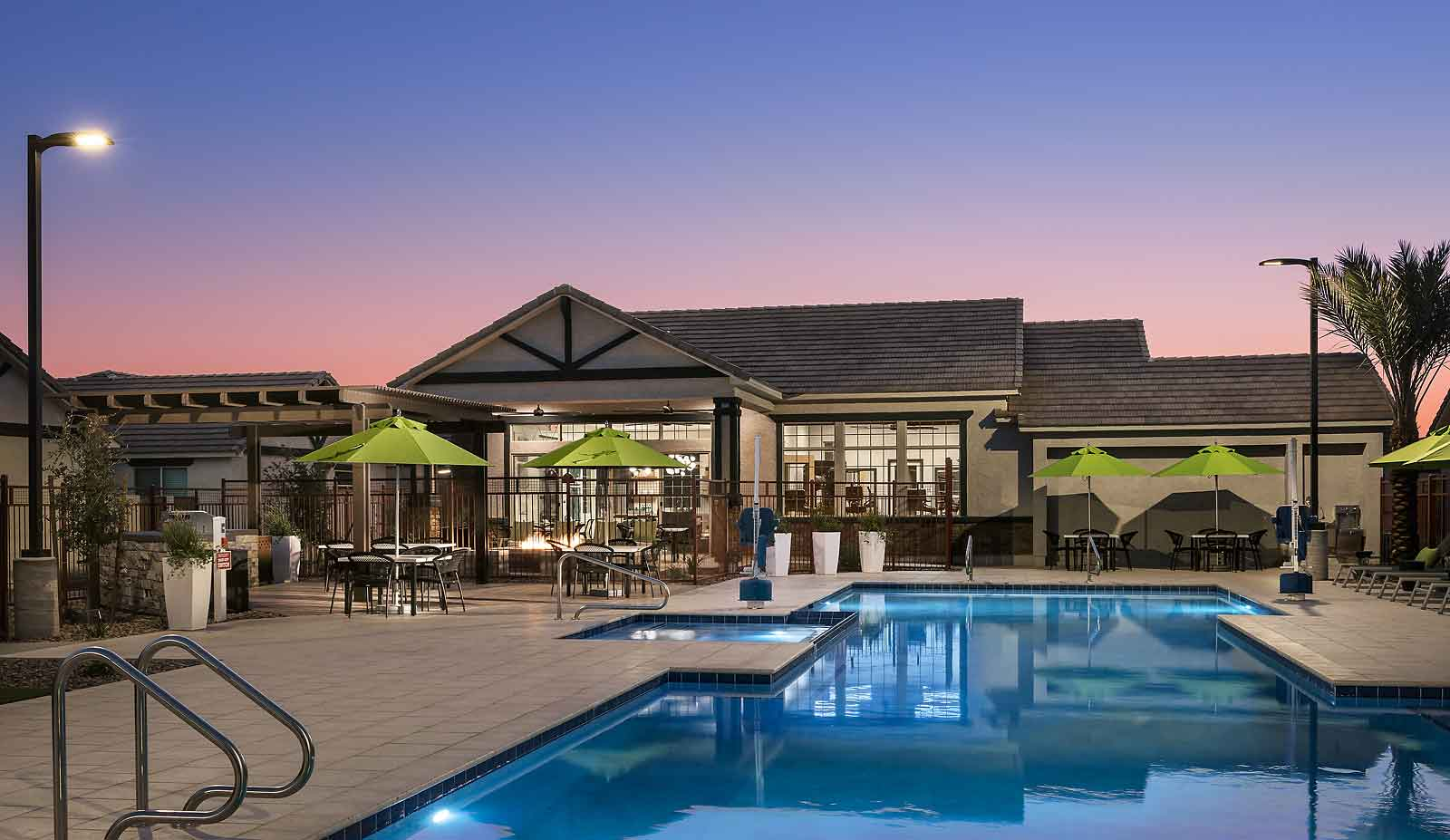 Resort Style Swimming Pool at Olive Marketplace Apartments in Glendale, AZ