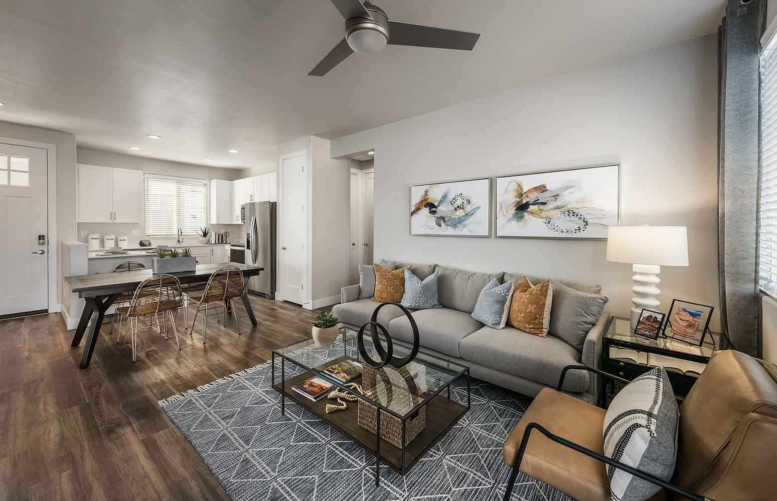 Living Room at Olive Marketplace Apartments in Glendale, AZ