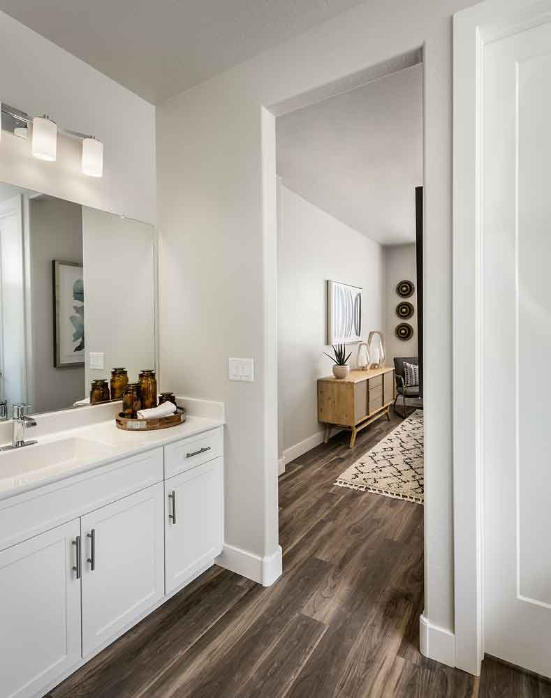 Bathroom at Olive Marketplace Apartments in Glendale, AZ