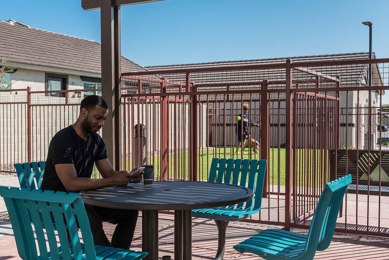 Gated Community at Olive Marketplace Apartments in Glendale, AZ