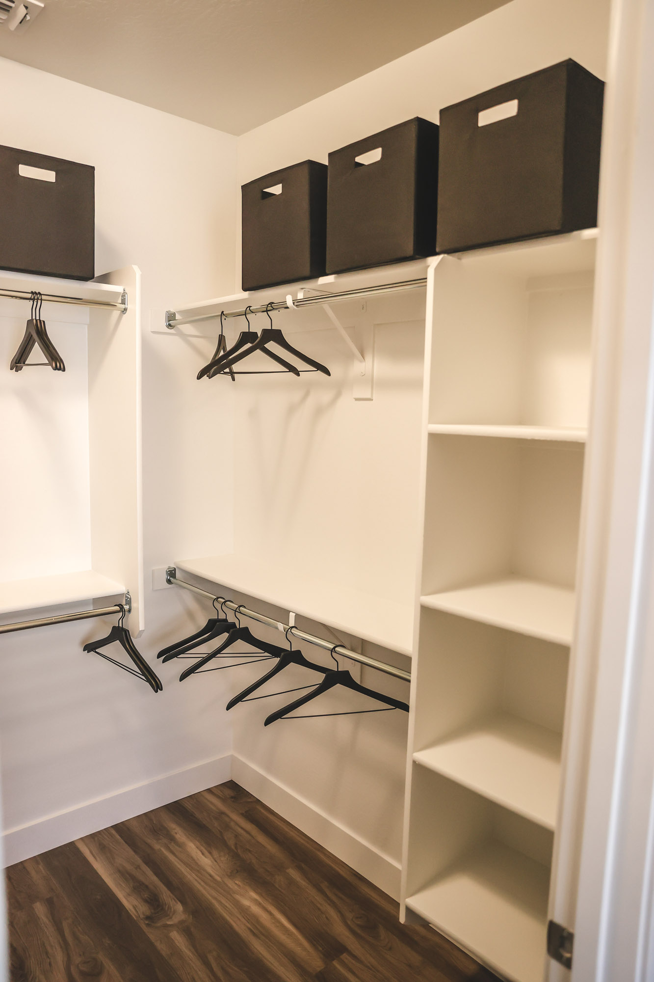 Walk-in Closet at Olive Marketplace Apartments in Glendale, AZ