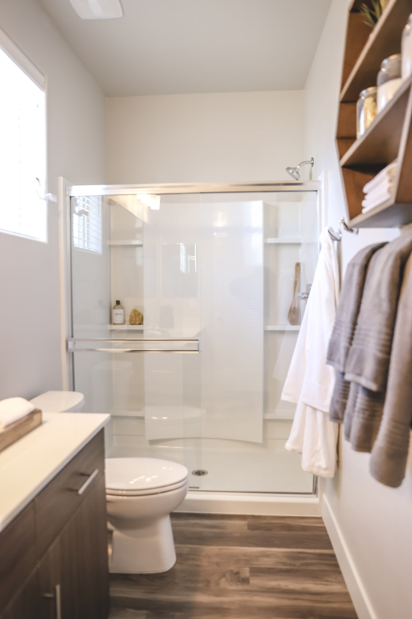Walk in Showers Available at Olive Marketplace Apartments in Glendale, AZ