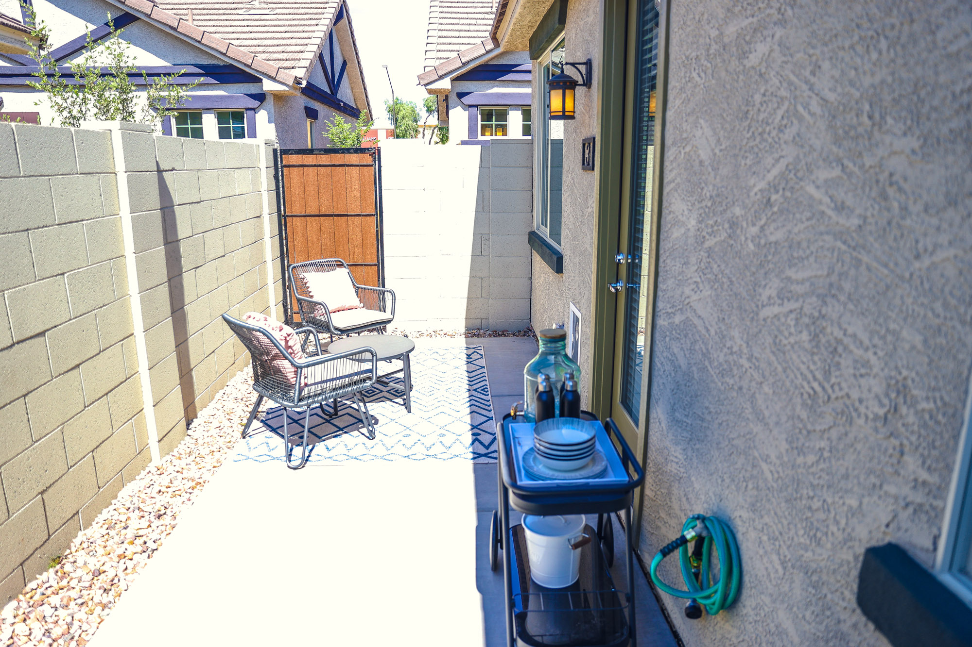 Private backyard at Olive Marketplace Apartments in Glendale, AZ