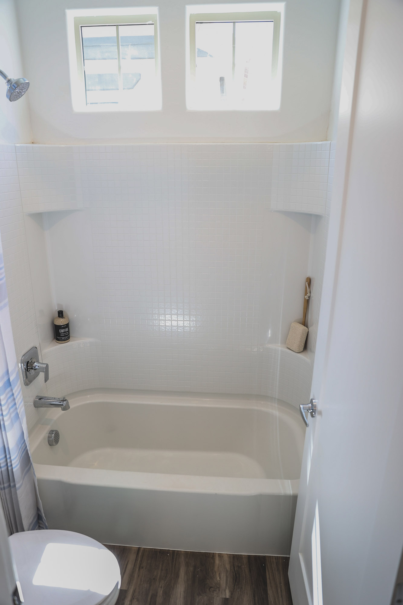 Tub and Shower at Olive Marketplace Apartments in Glendale, AZ