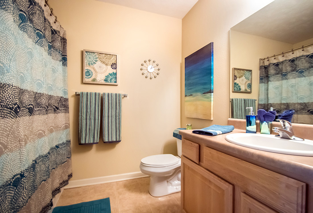 Spacious Bathrooms at Ontario Place Apartments in Omaha, NE