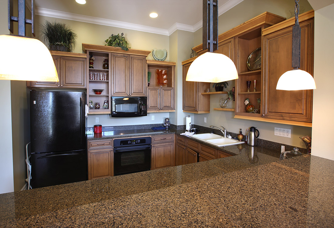 Full Kitchen in Clubhouse at Ontario Place Apartments in Omaha, NE