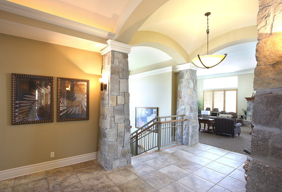 Elegant Clubhouse Entryway at Ontario Place Apartments in Omaha, NE
