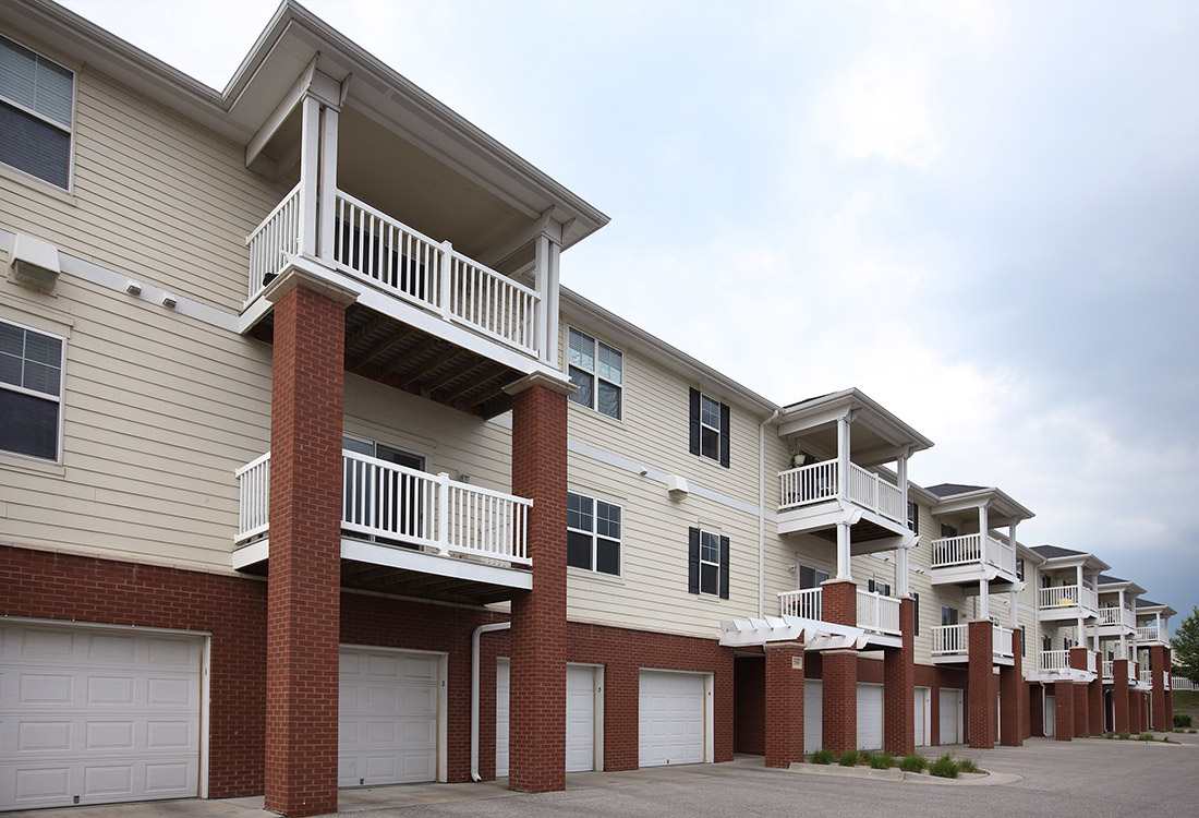 Attached Garages at Ontario Place Apartments in Omaha, NE