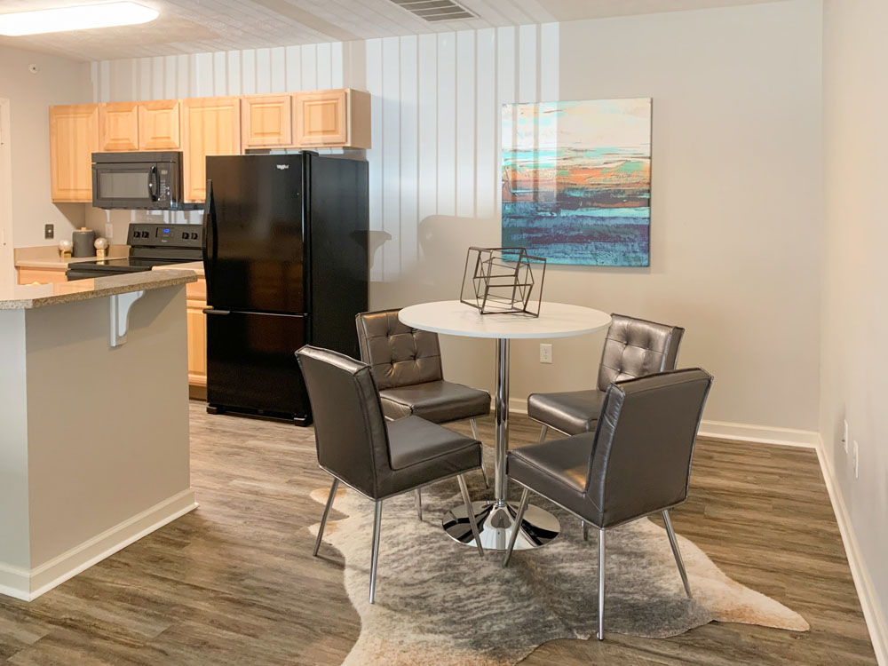 Kitchen and Dining Room at Ontario Place Apartments in Omaha, Nebraska