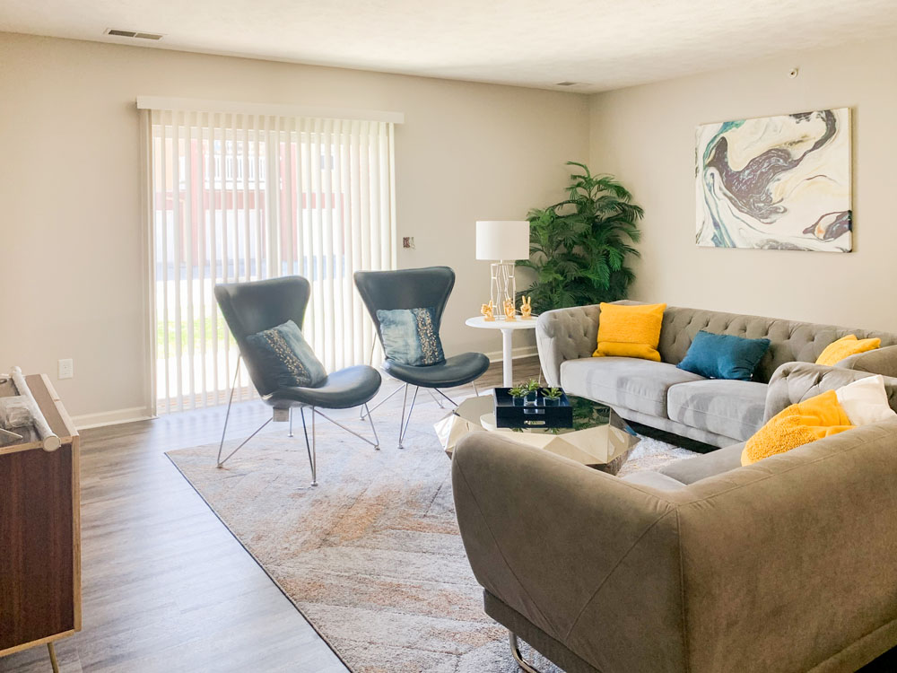 Spacious Living Room at Ontario Place Apartments in Omaha, Nebraska