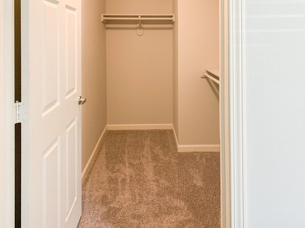 Walk In Closets at Ontario Place Apartments in Omaha, Nebraska