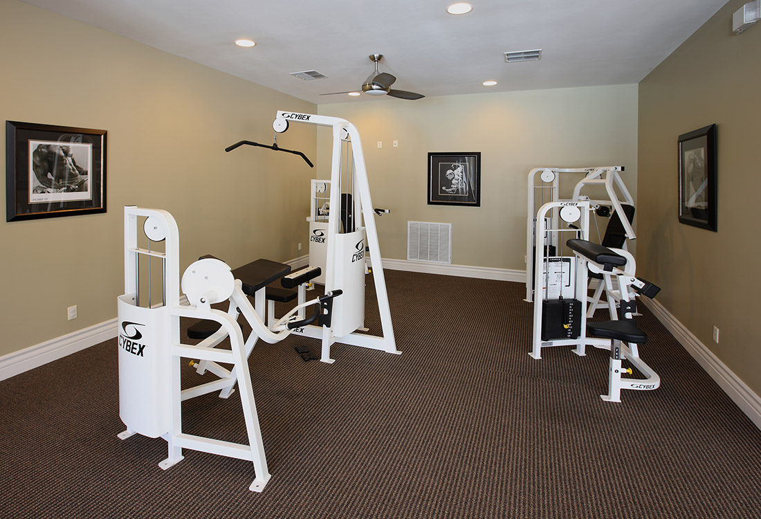 Fully-Equipped Fitness Center at Ontario Place Apartments in Omaha, NE