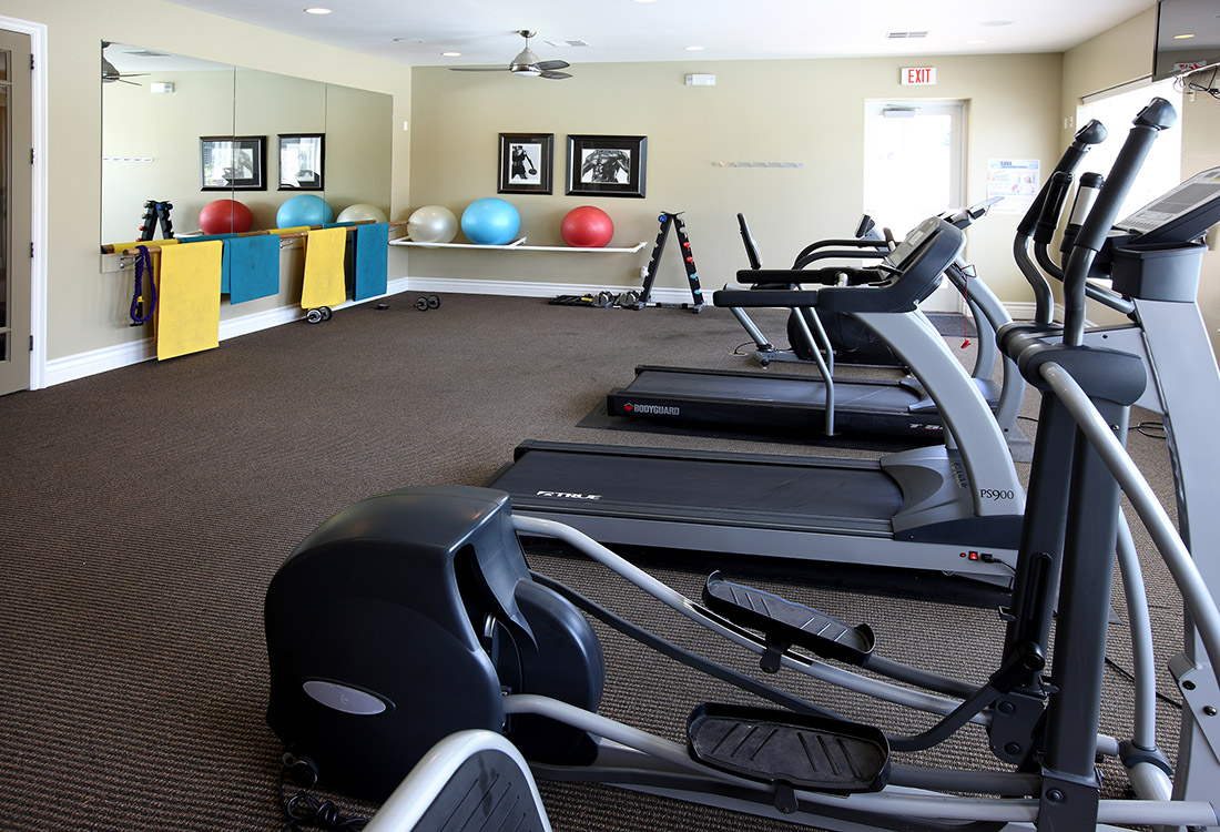 Fitness Center at Ontario Place Apartments in Omaha, NE