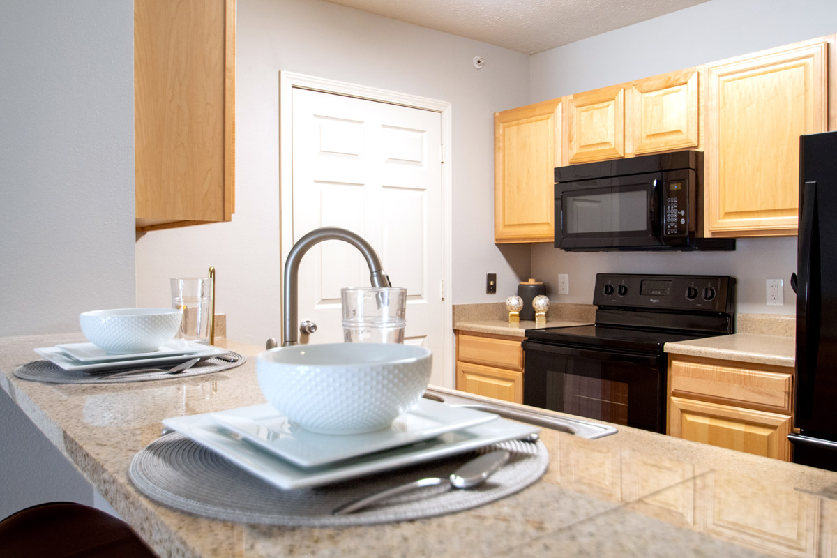 Granite Countertops at Ontario Place Apartments in Omaha, NE