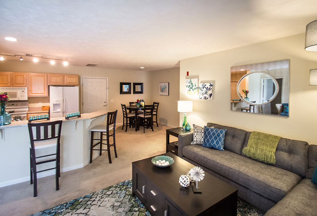 Open Living and Dining Areas at Ontario Place Apartments in Omaha, NE