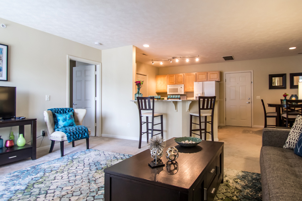 Spacious Living Room at Ontario Place Apartments in Omaha, NE