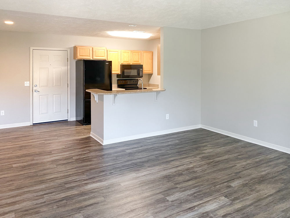 Wood Style Flooring at Ontario Place Apartments in Omaha, Nebraska