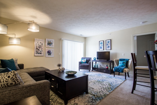 Living Room at Ontario Place Apartments in Omaha, NE