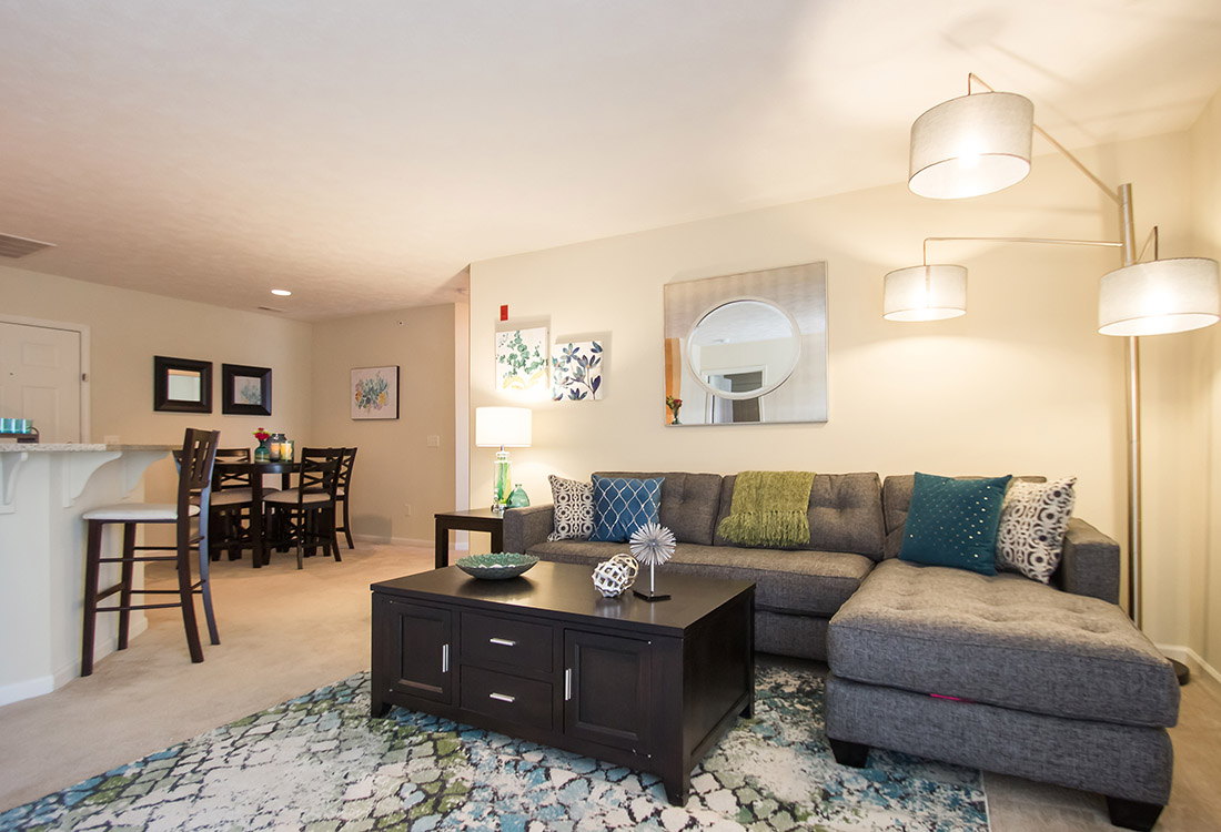 Spacious Living Rooms at Ontario Place Apartments in Omaha, NE