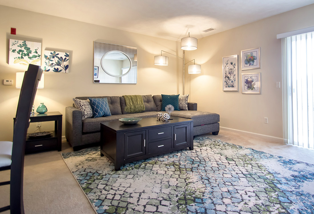 Open Living Rooms at Ontario Place Apartments in Omaha, NE