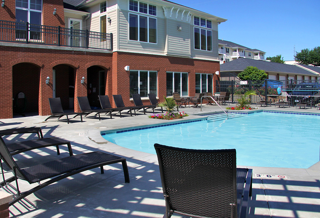 Resort-Style Swimming Pool at Ontario Place Apartments in Omaha, NE