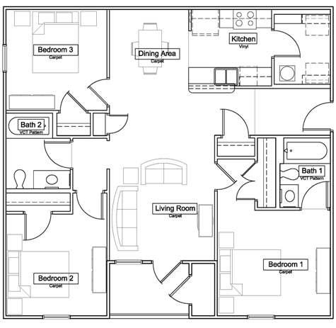 Overlook Terrace - Floorplan - The Hawthorn