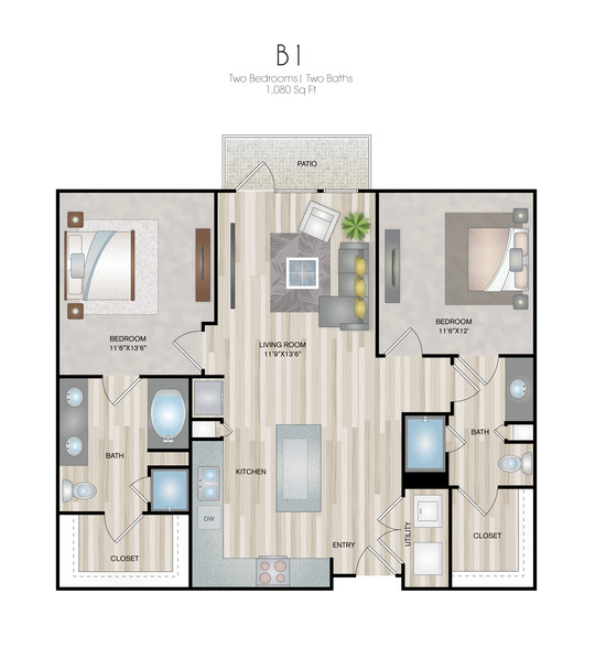 Oxford at Medical Center - Floorplan - B1