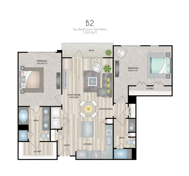 Oxford at Medical Center - FloorPlan - B2