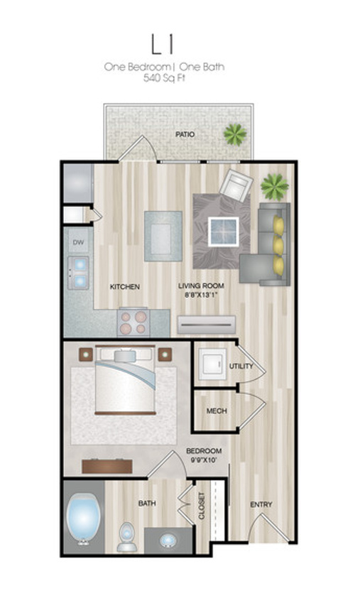 Oxford at Medical Center - Floorplan - L1