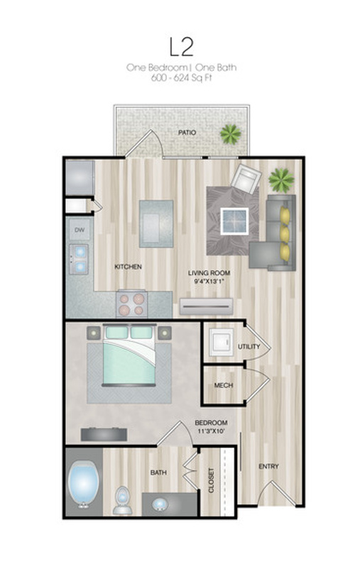 Oxford at Medical Center - Floorplan - L2