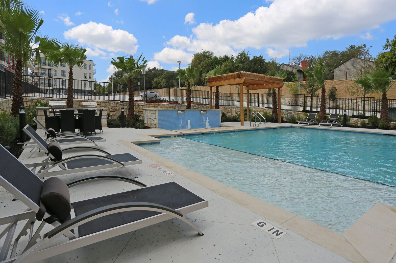 Poolside Lounge at Oxford at Medical Center Apartments in San Antonio, Texas