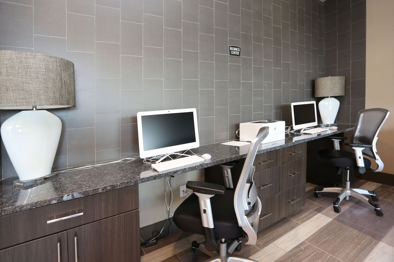On-Site Business Center at Oxford at Medical Center Apartments in San Antonio, Texas