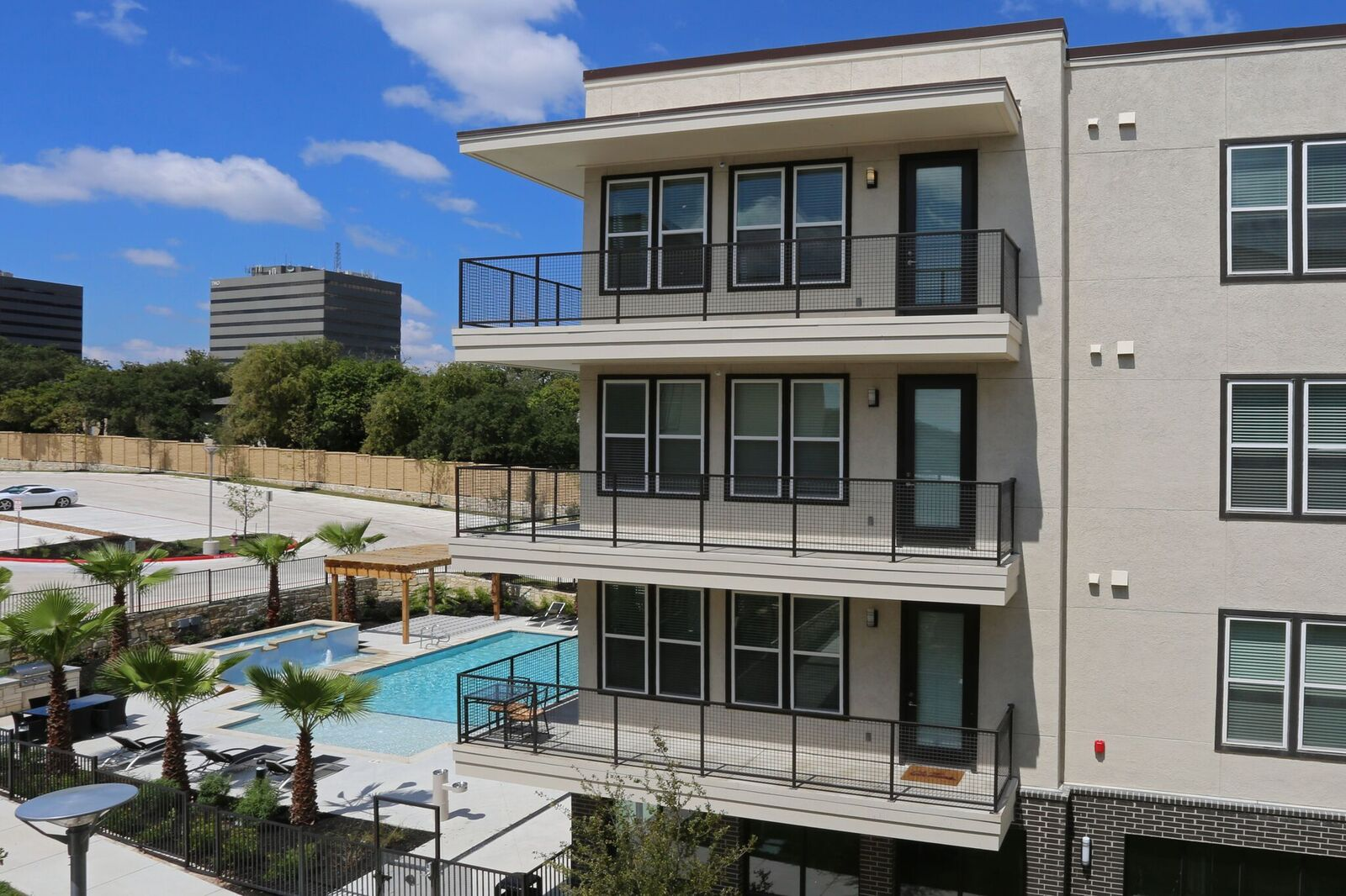 Private Balconies at Oxford at Medical Center Apartments in San Antonio, Texas