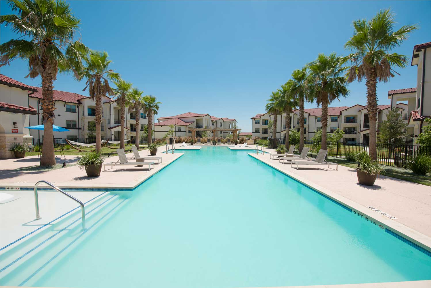 Large Pool at Oxford at Santa Clara Apartments in Pflugerville, Texas