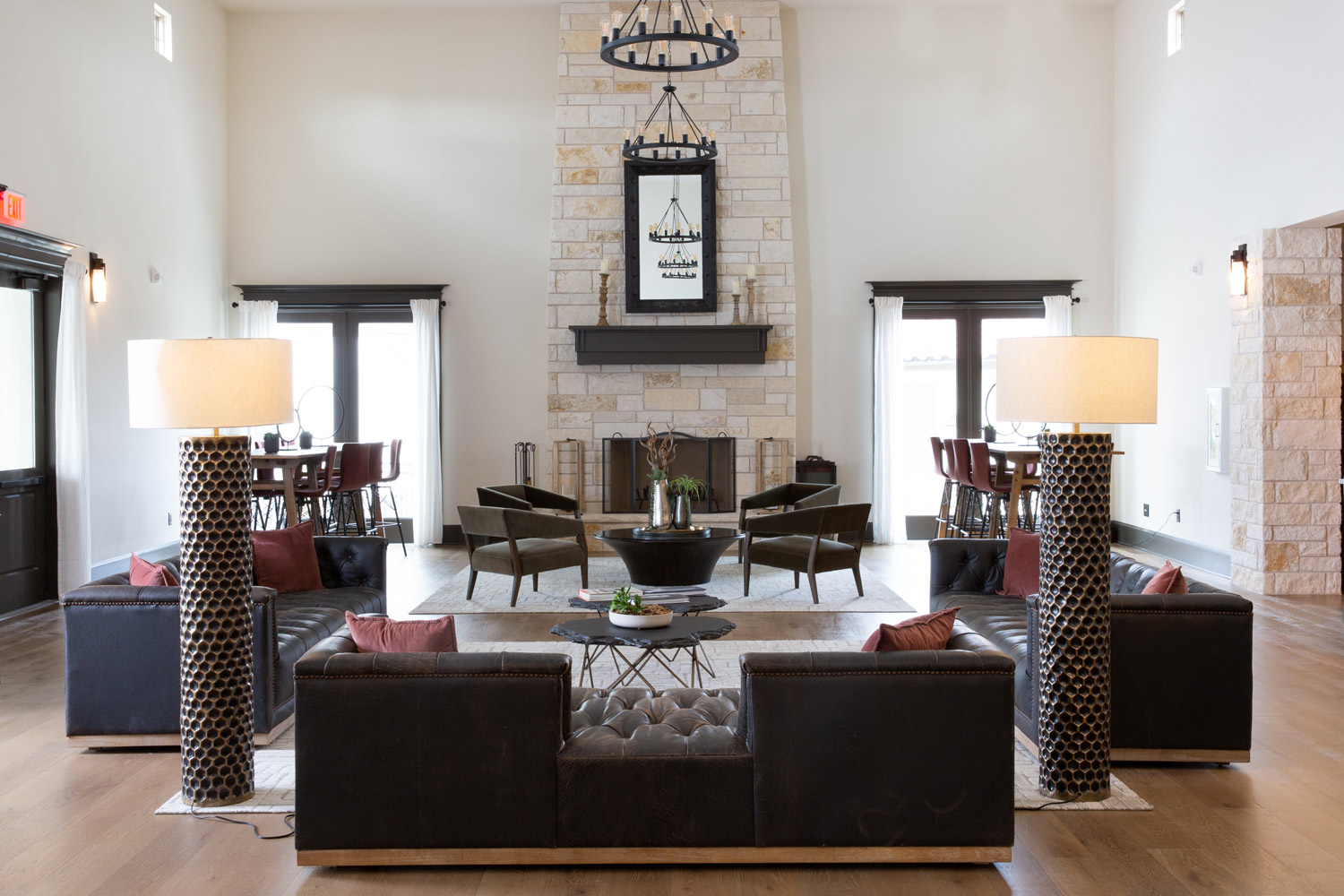 Stylish Interiors at Oxford at Santa Clara Apartments in Pflugerville, Texas