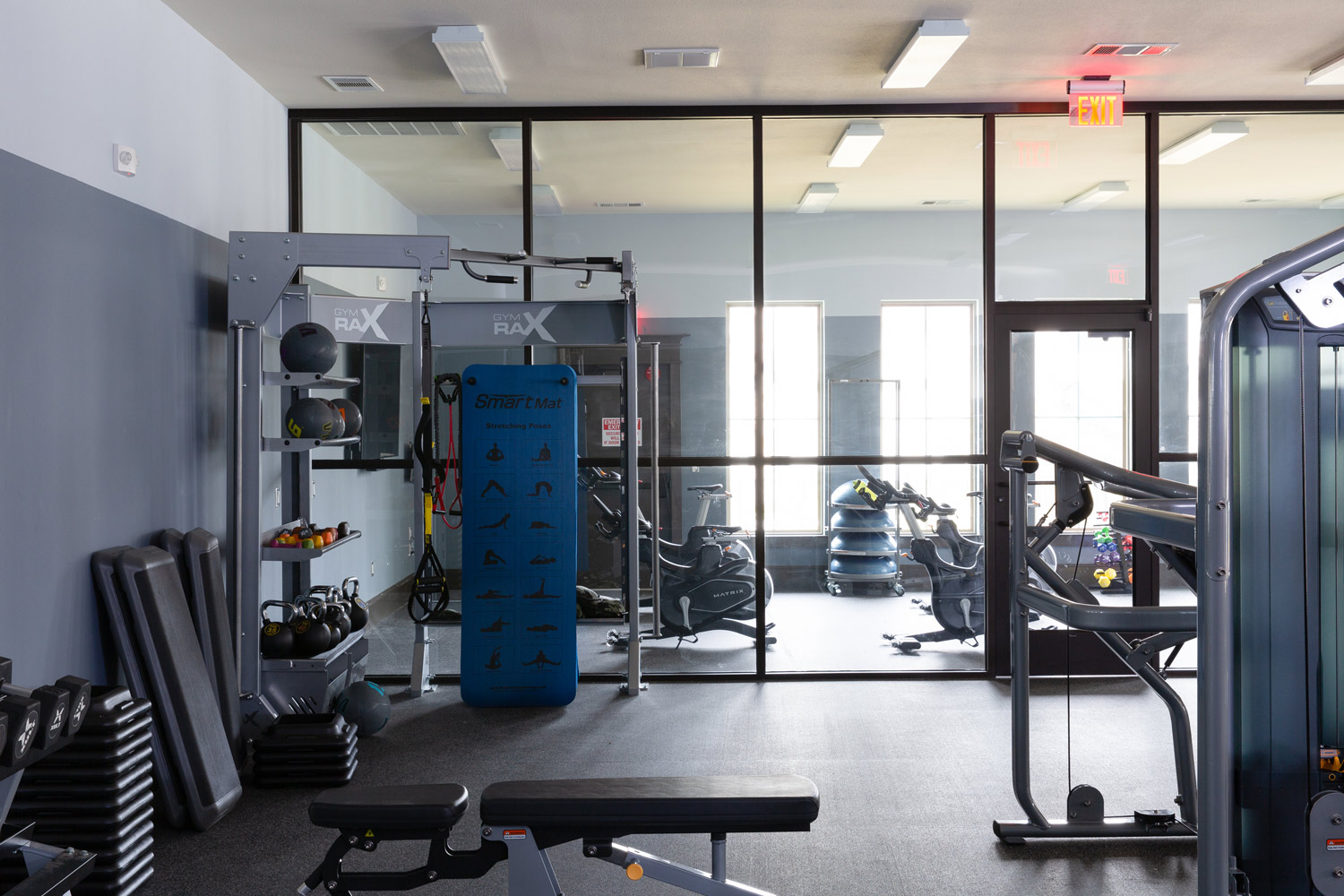 Fitness Center at Oxford at Santa Clara Apartments in Pflugerville, Texas