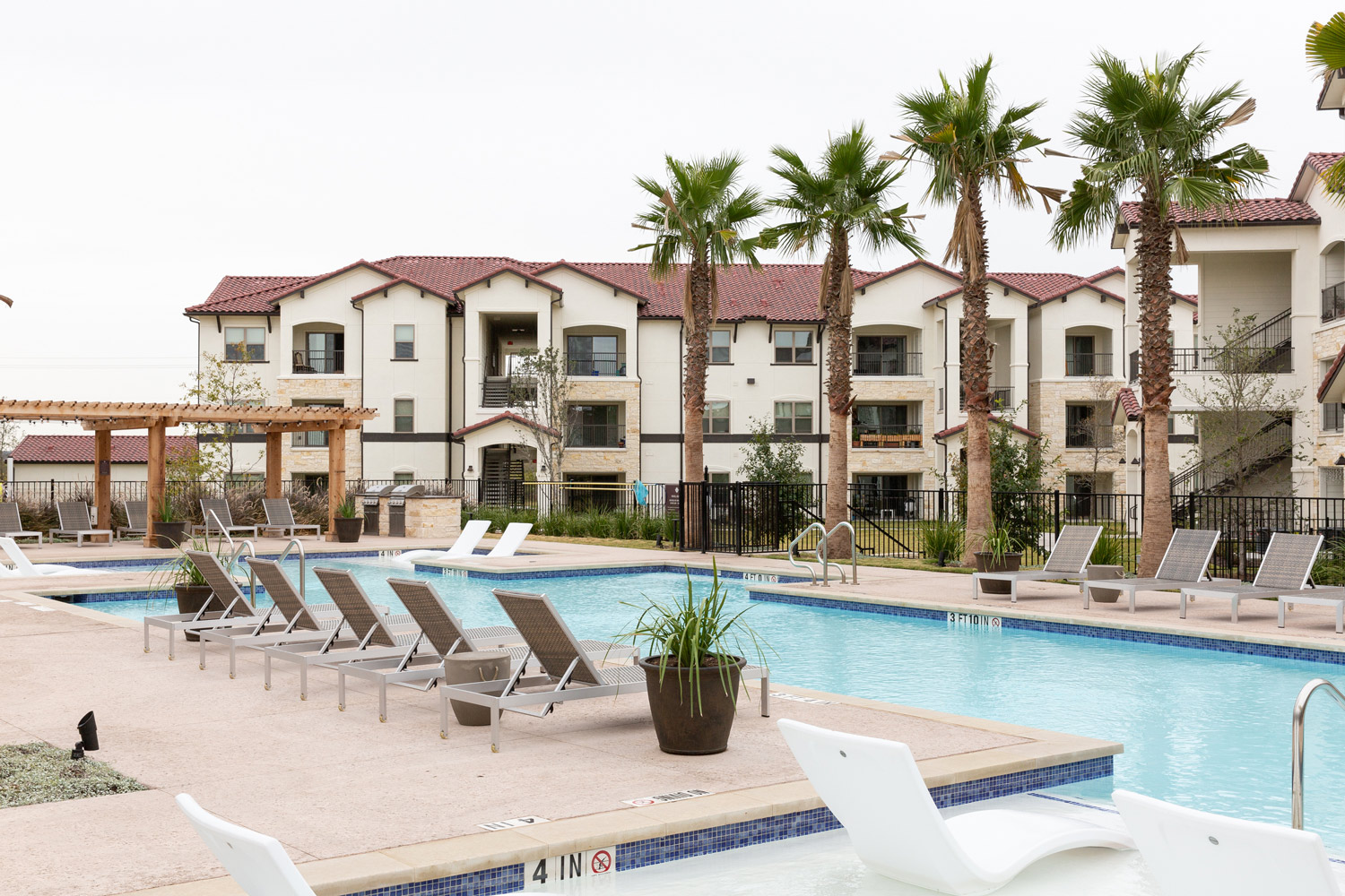 Swimming Pool at Oxford at Santa Clara Apartments in Pflugerville, Texas
