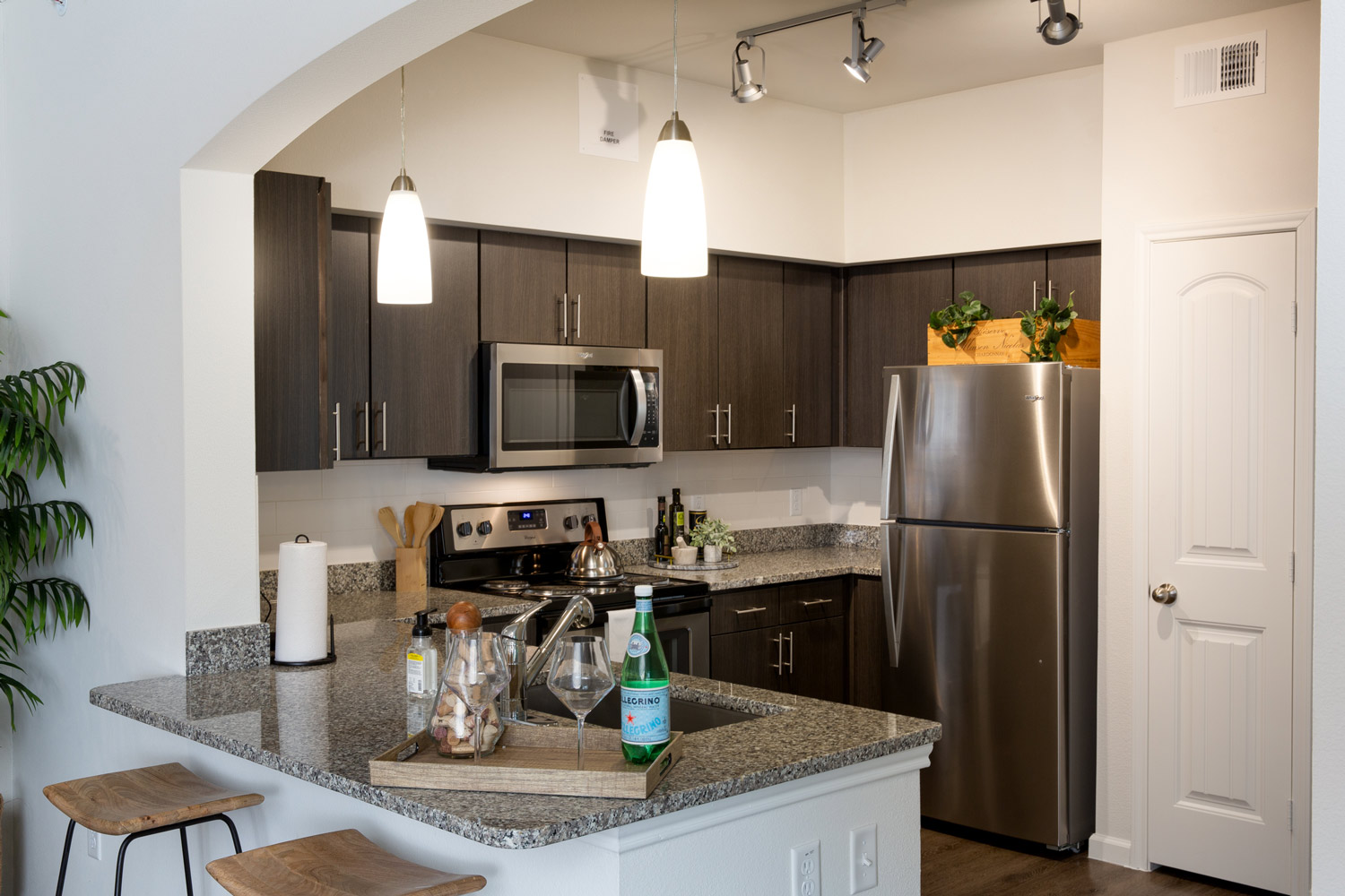 Stainless Steel Appliances at Oxford at Santa Clara Apartments in Pflugerville, Texas