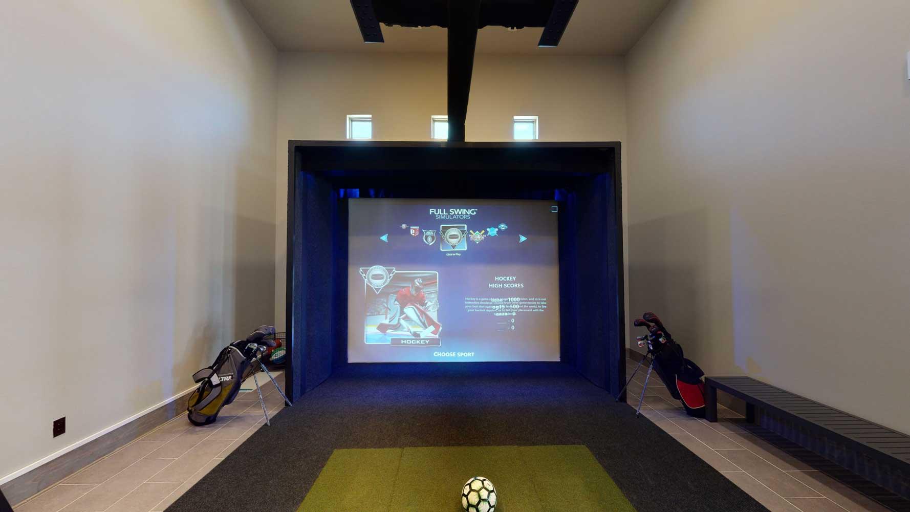 Gaming Room at Oxford at Santa Clara Apartments in Pflugerville, Texas