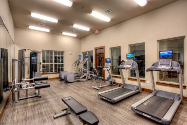 Fitness Center at Oxford at the Ranch Apartments Waller, Texas